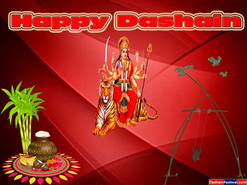 Greeting Cards for happy Dashain wishes for Facebook friends in Nepali
