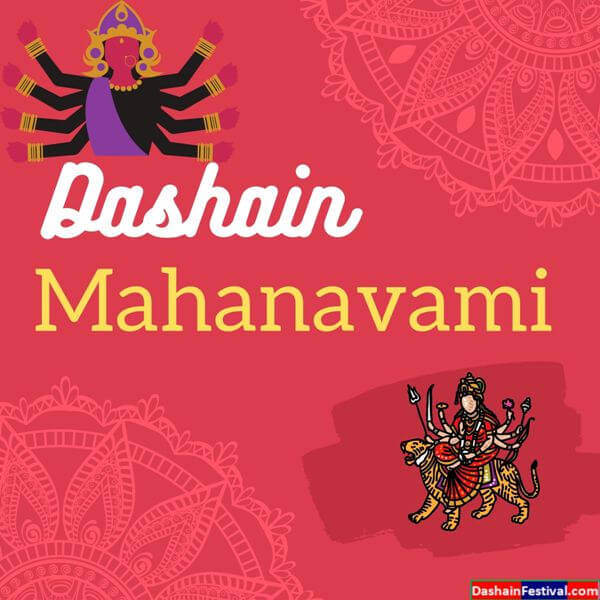ninth day of Dashain Mahanavami Images