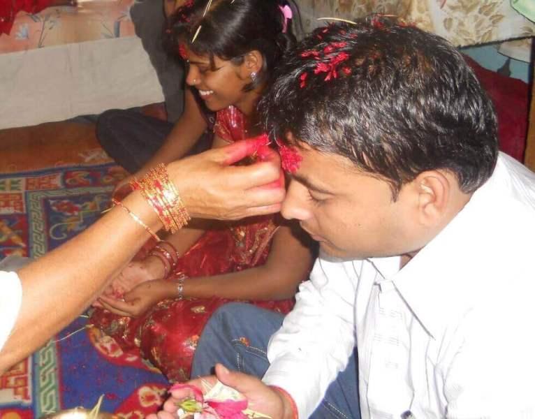 Dashain Tika Time Photo Vijaya Dashami