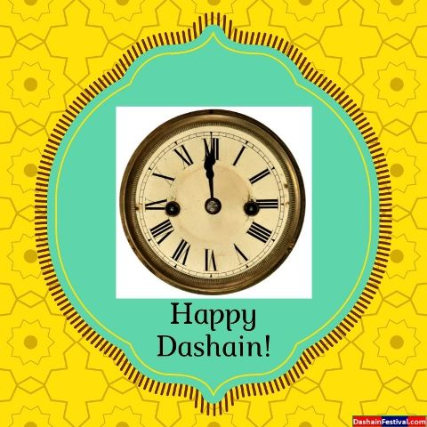 Happy Dashain Greeting Cards Clock