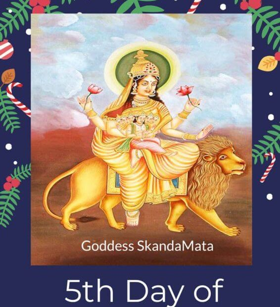 5th day of Dashain Navratri festival Goddess Skandamata