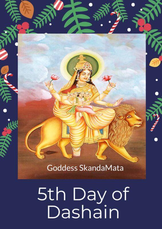 5th day of Dashain Navratri festival Goddess Skandamata