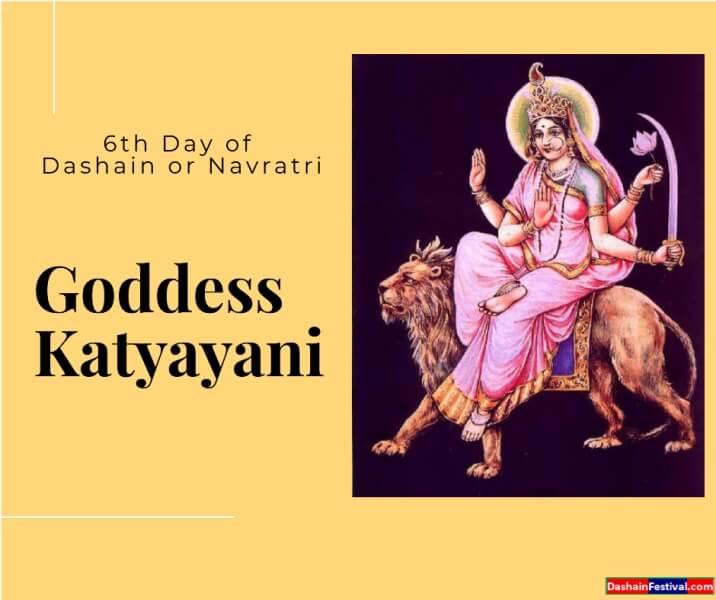 6th day of dashain festival goddess Katyayani Navratri