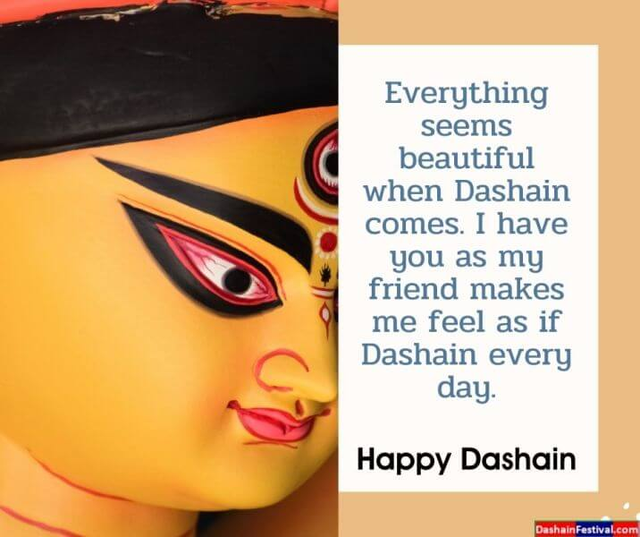 Happy Dashain Wishes for best friend in English